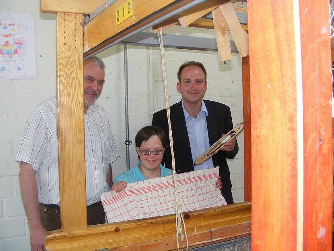 Ulrich Niemann (Wittekindshofer Werkstätten), Alexandra Kikelkorn, Christoph Dolle (SPD-Europakandidat und Landesvorsitzender JusosNRW)